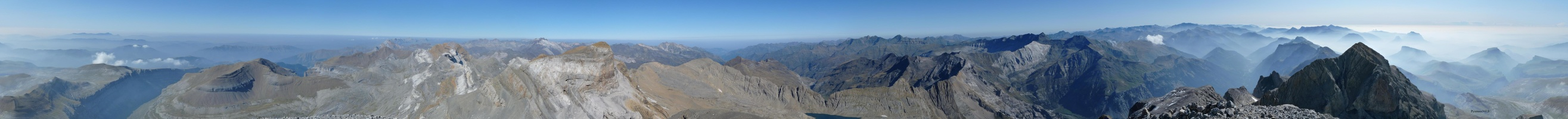 Panorama from the Monte Perdido